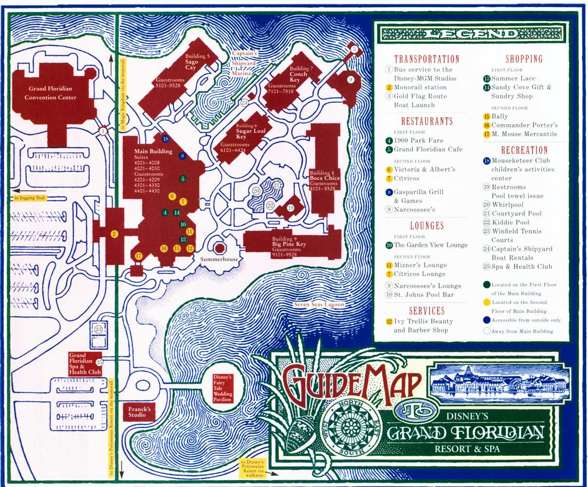 Disney Magic Maps Of Walt Disney World