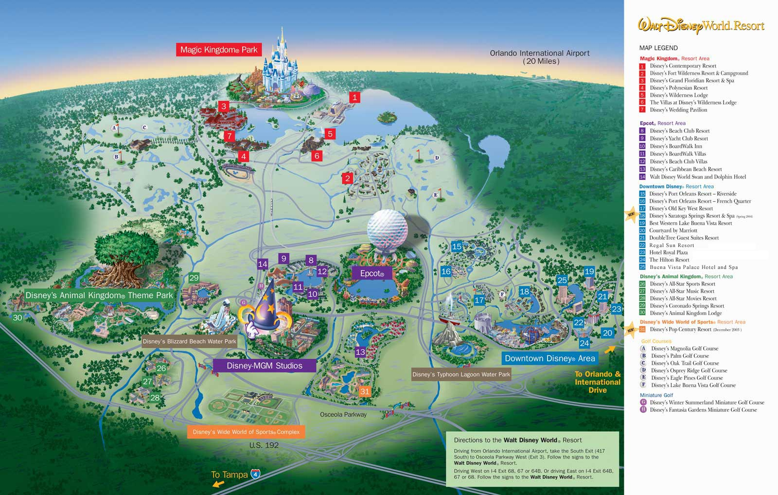 Disney Magic - Maps of Walt Disney World on